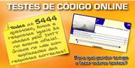 Testes código online